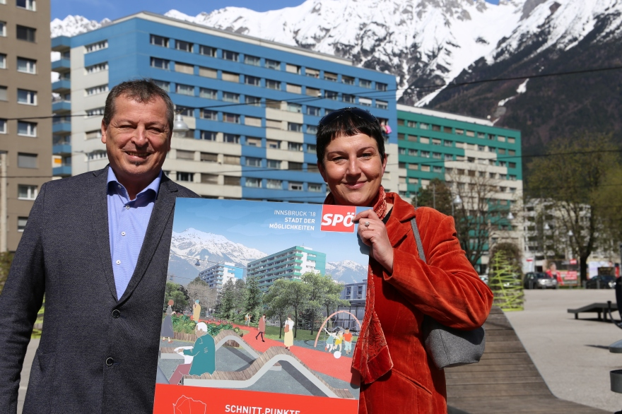 Helmut Buchacher & Irene Heisz am DDr.-Alois-Lugger-Platz